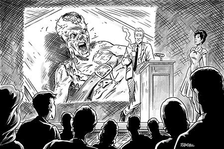 Melgaard presenting zombie findings
